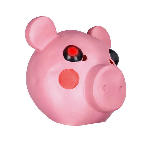 Roblox Piggy Pink Headgear LED Light Latex Full Halloween Cosplay Prop