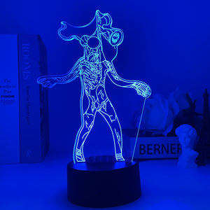 Siren Head Touch Night Light for Room Desktop Vision Lamp Color Changing LED Night Light