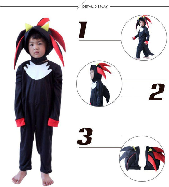 Sonic The Hedgehog Costume Halloween Cos for Kids
