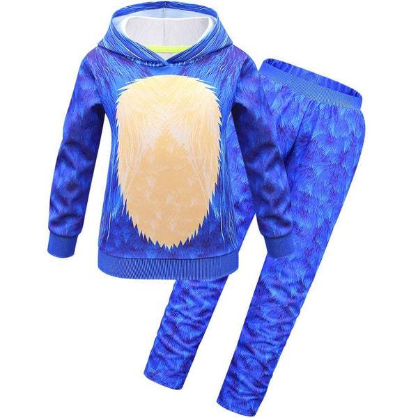 Sonic the Hedgehog Hooded Top and Pants Halloween Cos Prop With Headgear