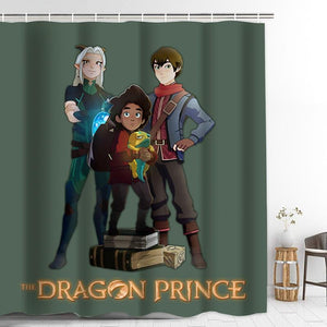 The Dragon Prince Bathroom Shower Curtain with Hooks Home Decoration