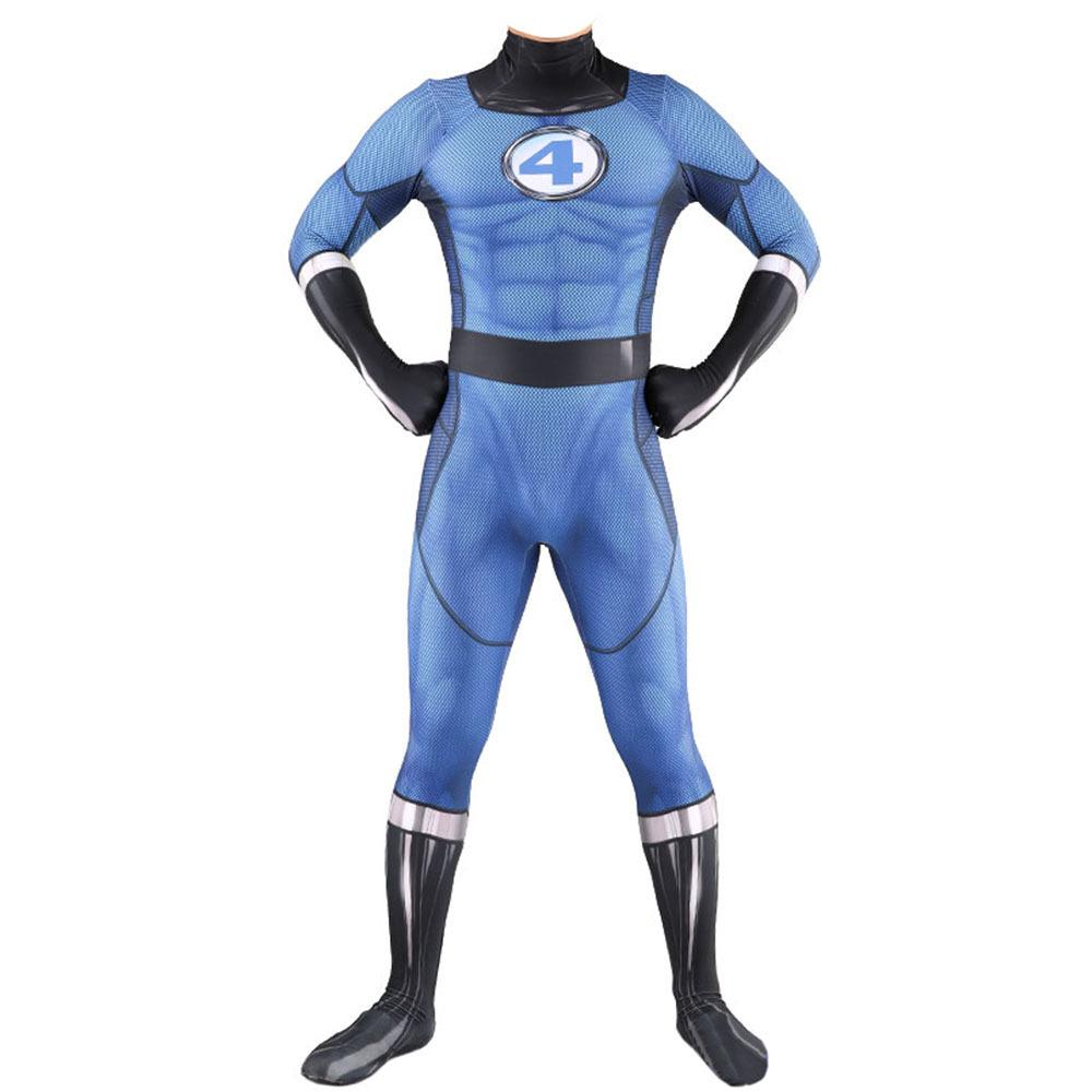 The Fantastic 4 Cosplay Outfits Jumpsuit Cos Prop
