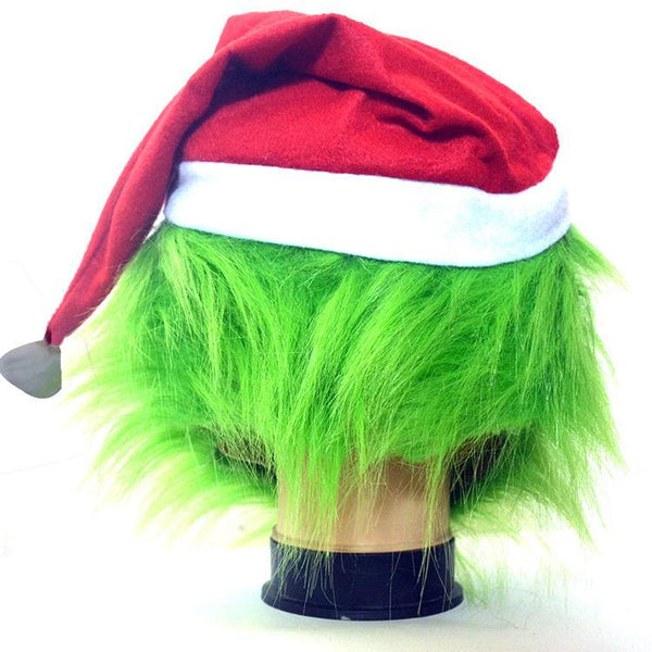 The Grinch Headgear with Gloves Halloween Christmas Cos Supplies