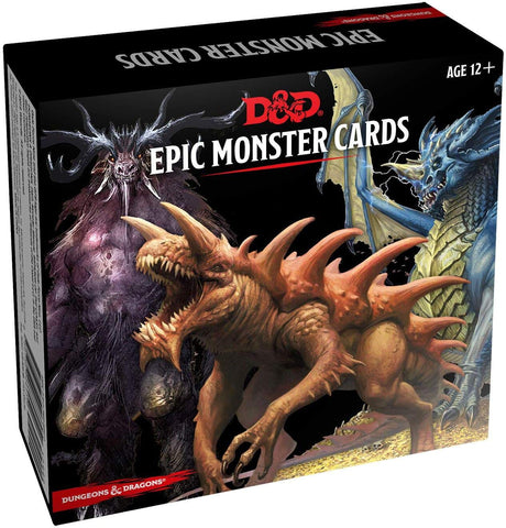 Dungeons & Dragons Epic Monster Cards (5th Edition)