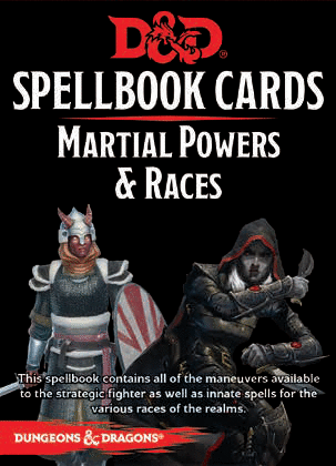 Dungeons & Dragons - Spellbook Cards: Martial Powers & Races