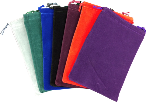 "Velour Dice Pouch - 5"" x 7"" - Assorted"