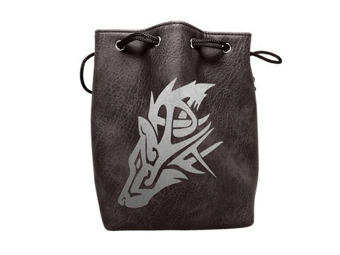 Black Leather Lite Dice Bag