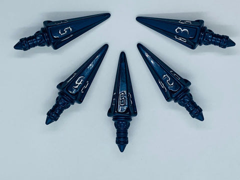 The Rogue 5d6 Short Swords - Midnight Blue