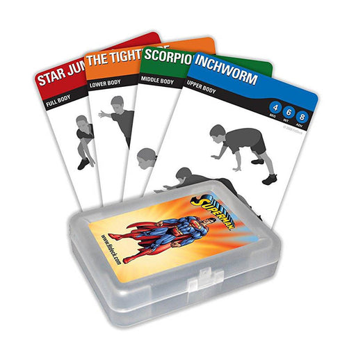 Fitdeck Kids Exercise Playing Cards for Guided Workouts, Superman - Evergreen Products & Research