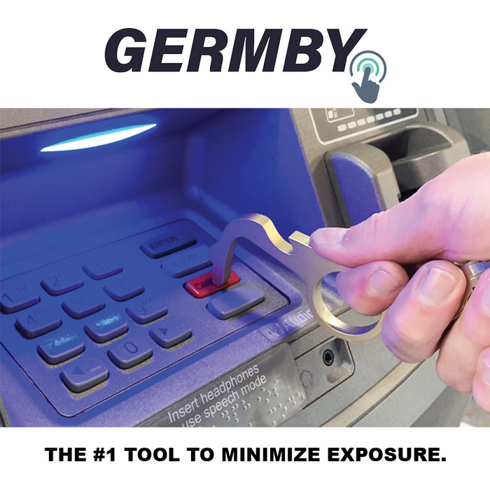 Germby - Multi-Tool Touchless Keychain & Bottle Opener