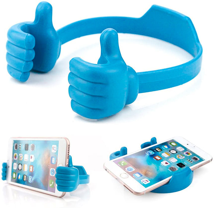 Mobile Handz, Thumbs up Cell Phone Holder, Adjustable Silicone Tablet Stand - Evergreen Products & Research