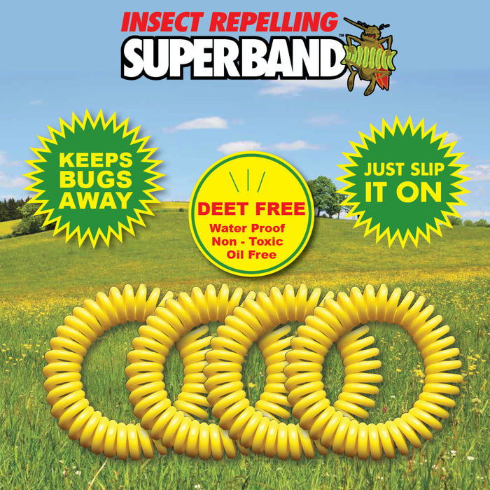 The Original Superband All-Natural Mosquito Repellent Bracelet