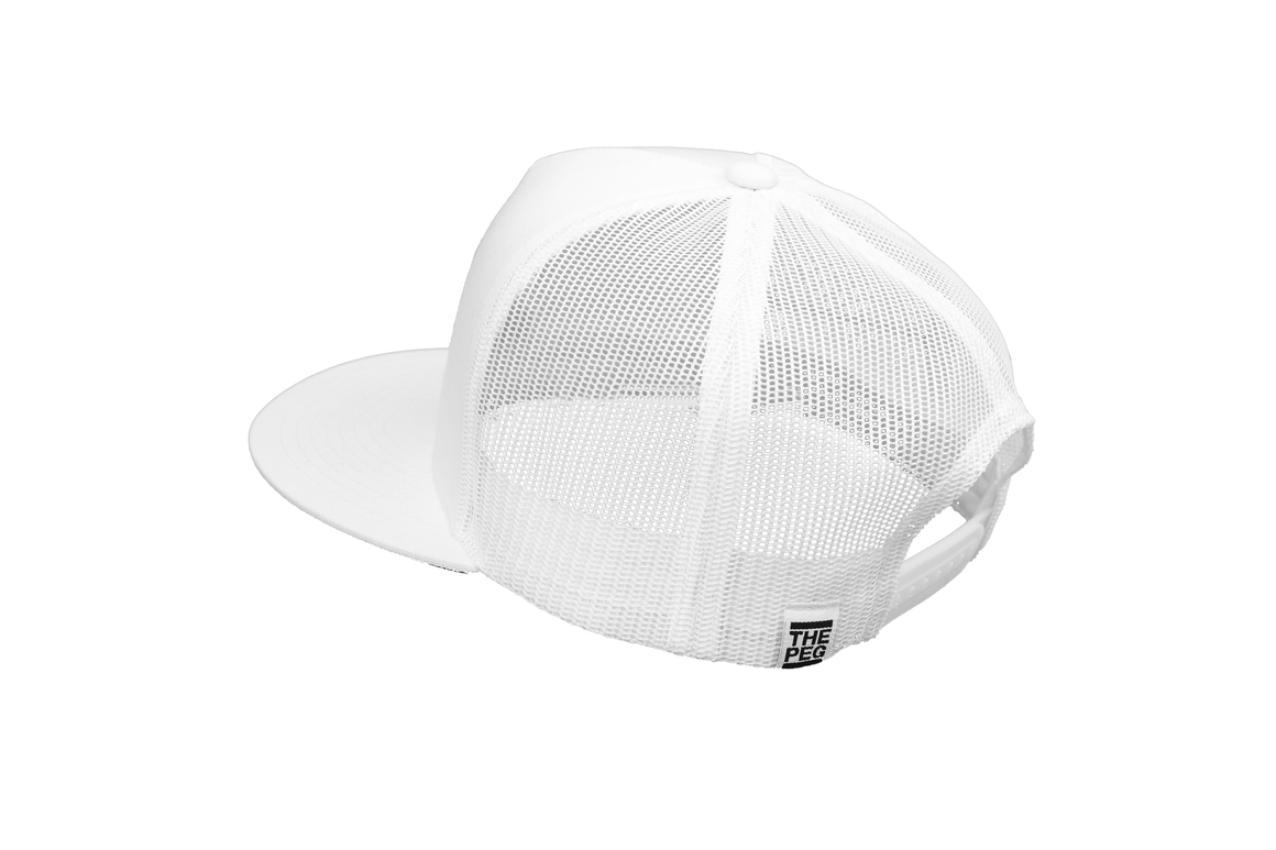 Monochromatic Mesh Back Hat (White)