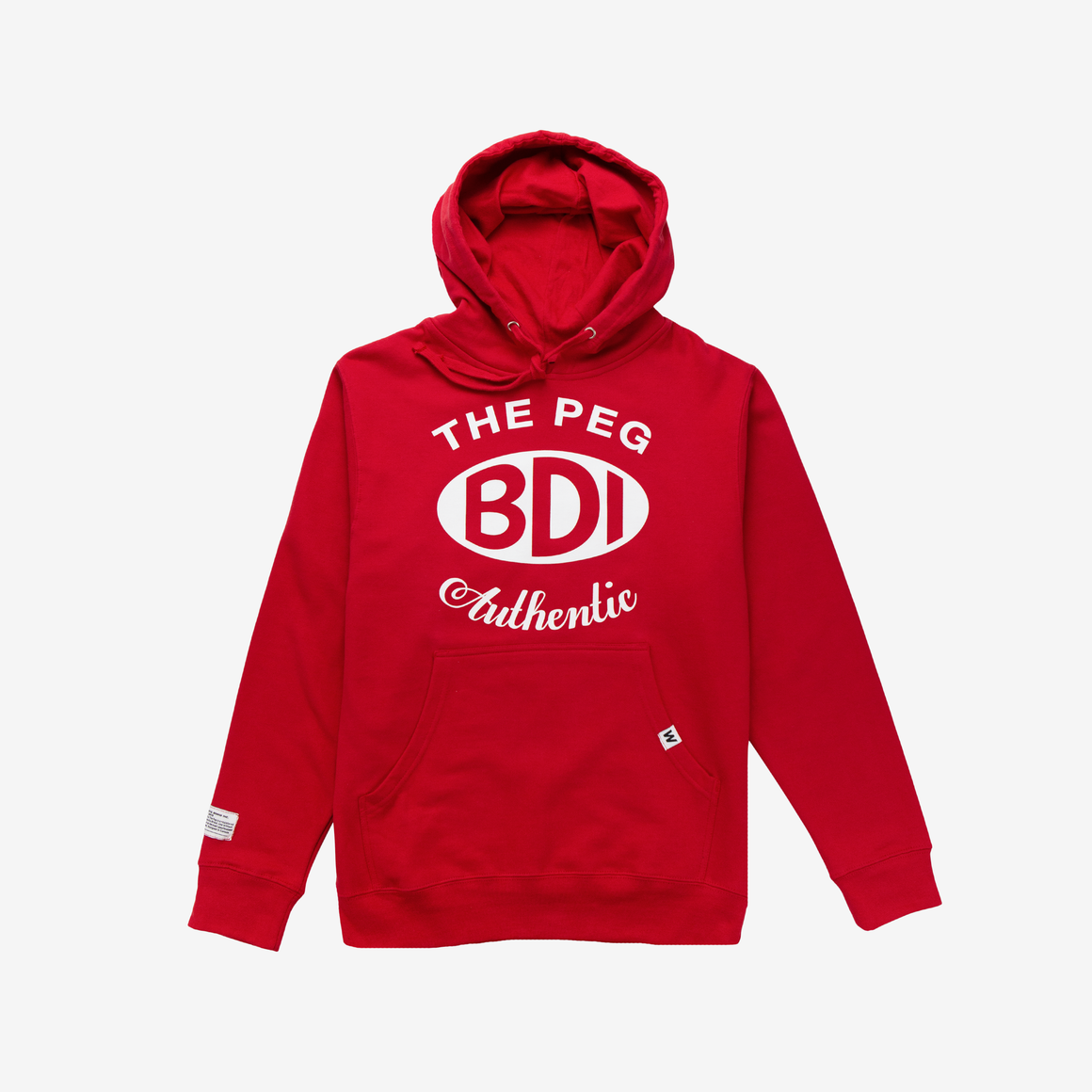 The Peg Authentic x Bridge Drive-In Collection Mid Weight Hoodie (Original Red)