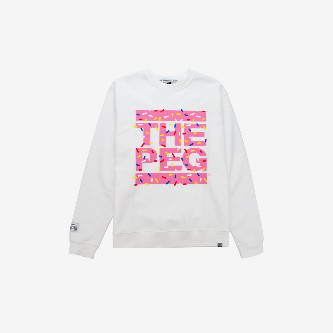 The Peg Authentic x Bridge Drive-In Collection Sprinkle Crew Sweatshirt (Vanilla)