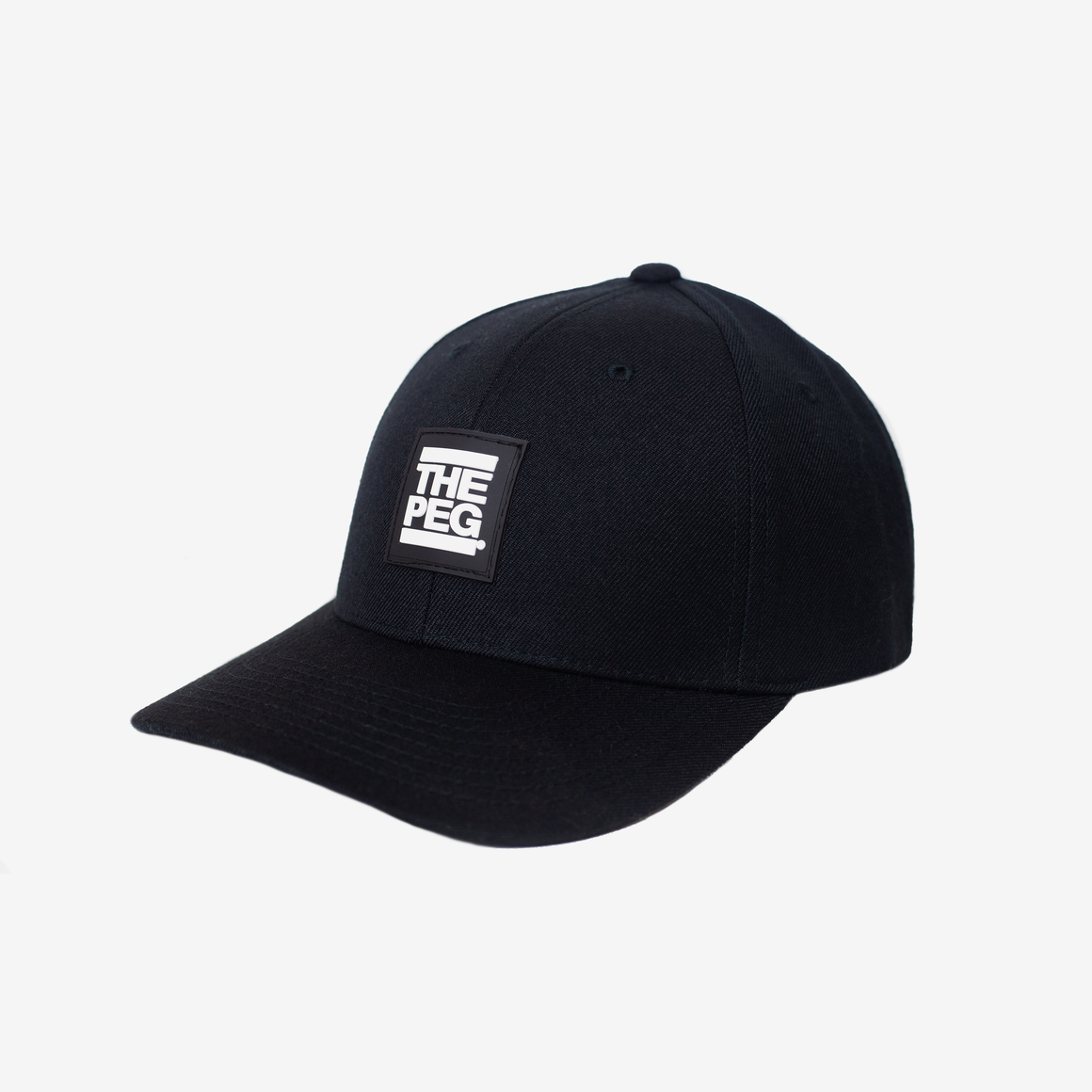 Classic Curved Snapback (Black)