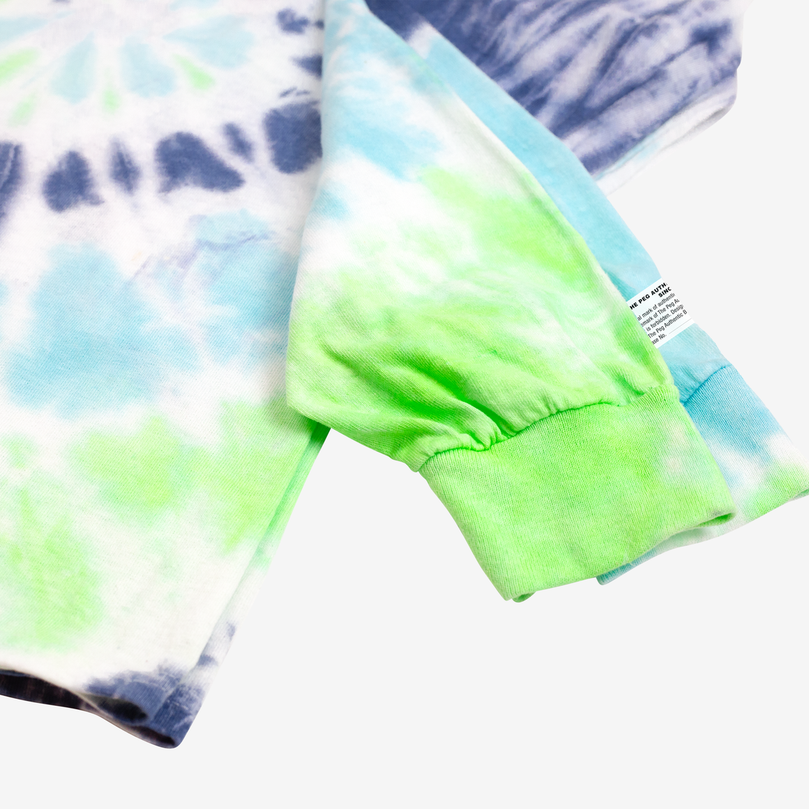 The Dad Tie Dye Long Sleeve (Navy, Aqua, Lime)