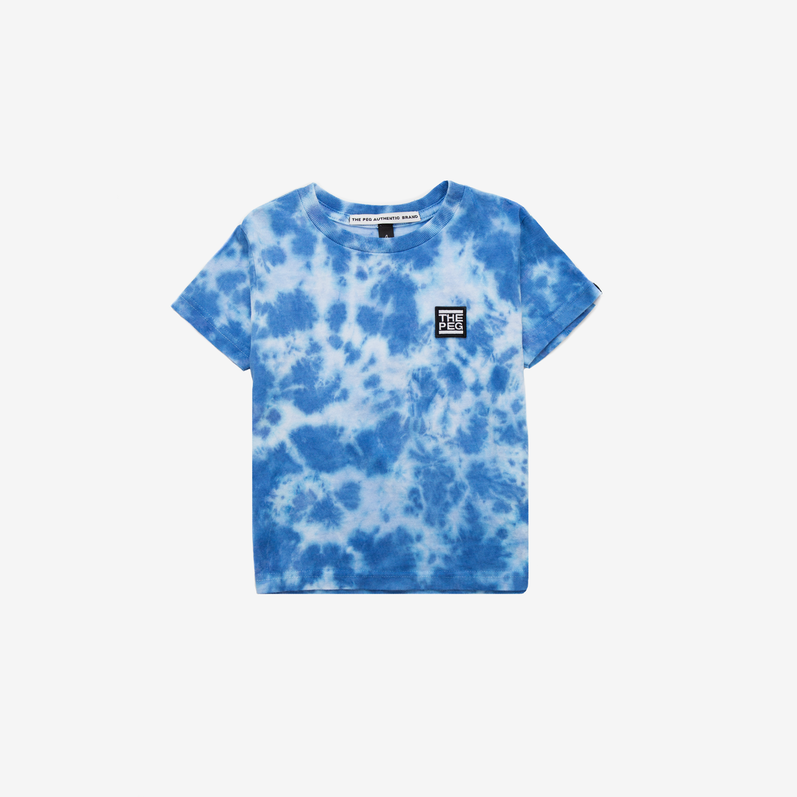 Kids Tie Dye Tee Shirt (Royal Blue)