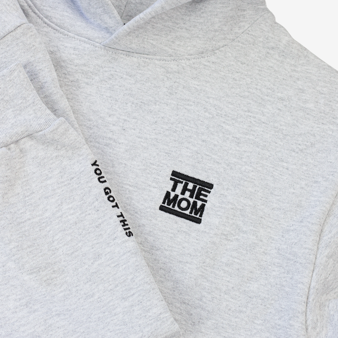 The Mom / Your Got This Premium Heavy Weight 14oz Hoodie (Light Heather Grey)