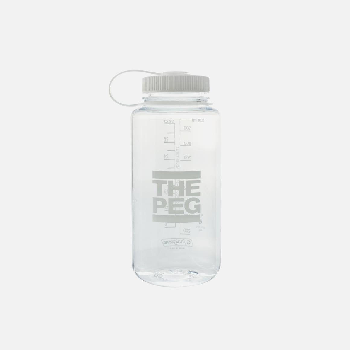 Nalgene® 32oz Widemouth Water Bottle (Clear/White)