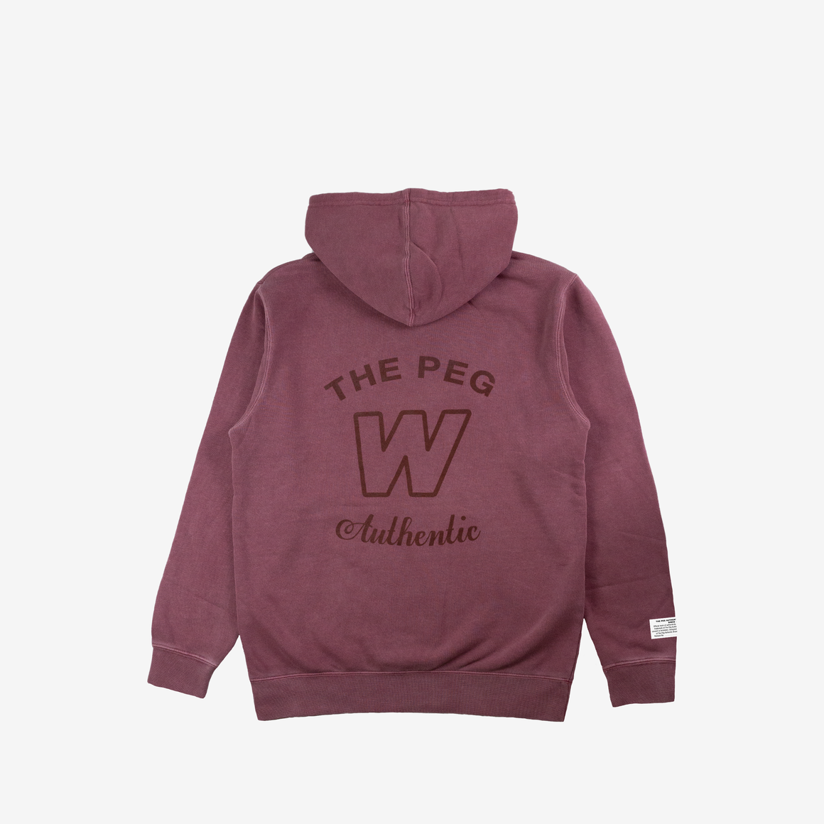 Mid Weight Premium Pigment Dyed Hoodie (Maroon)