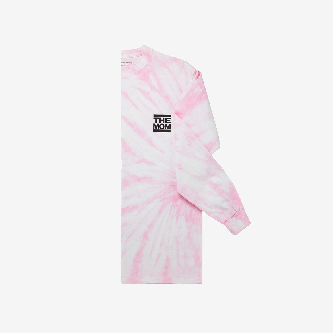 The Mom Tie Dye Long Sleeve Tee (Rose Quartz)