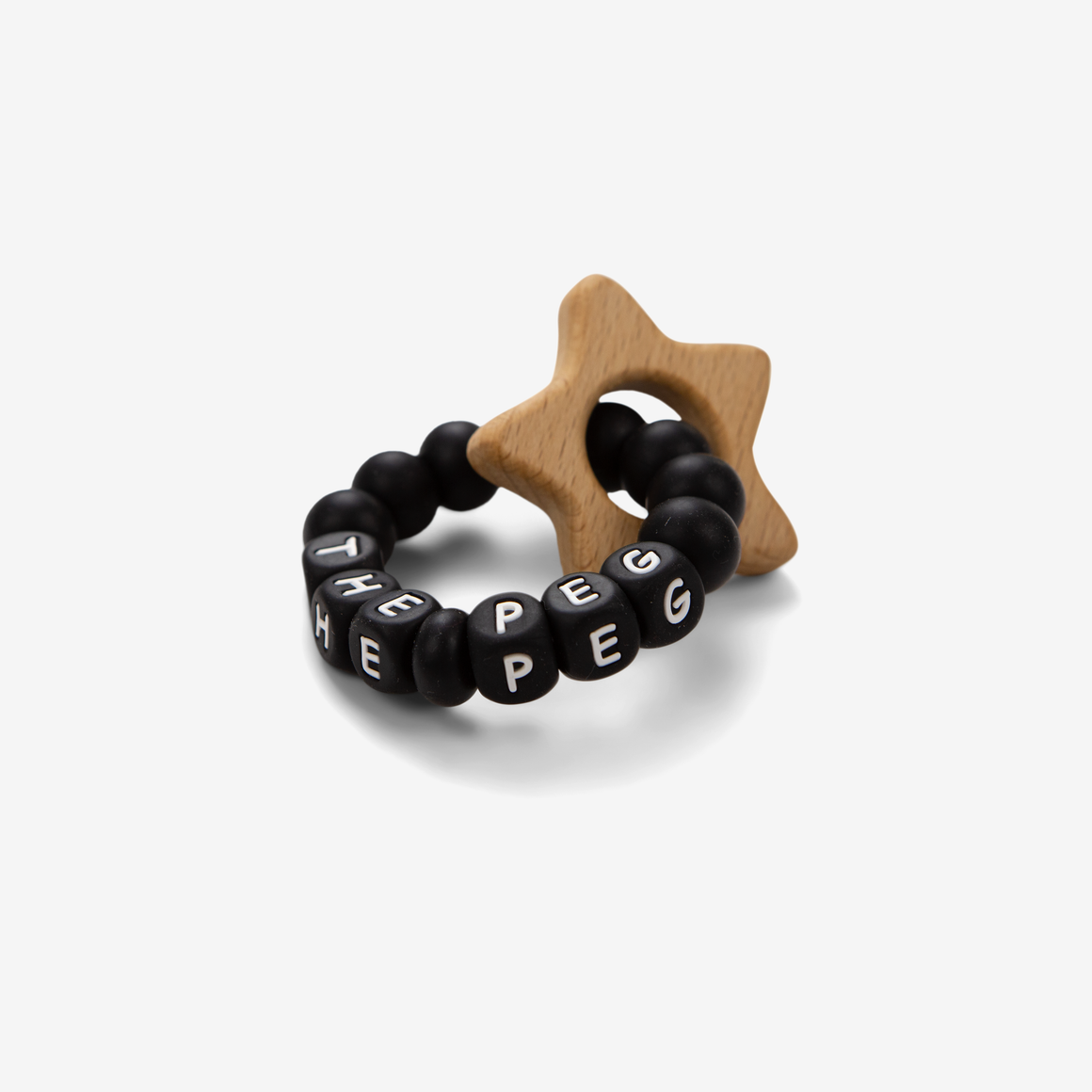 The Peg Authentic x Tiny Inspirations Teething Ring (Monochromatic Black)