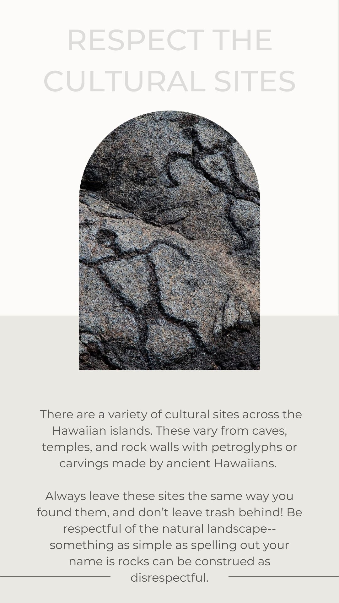 Respect the cultural sites