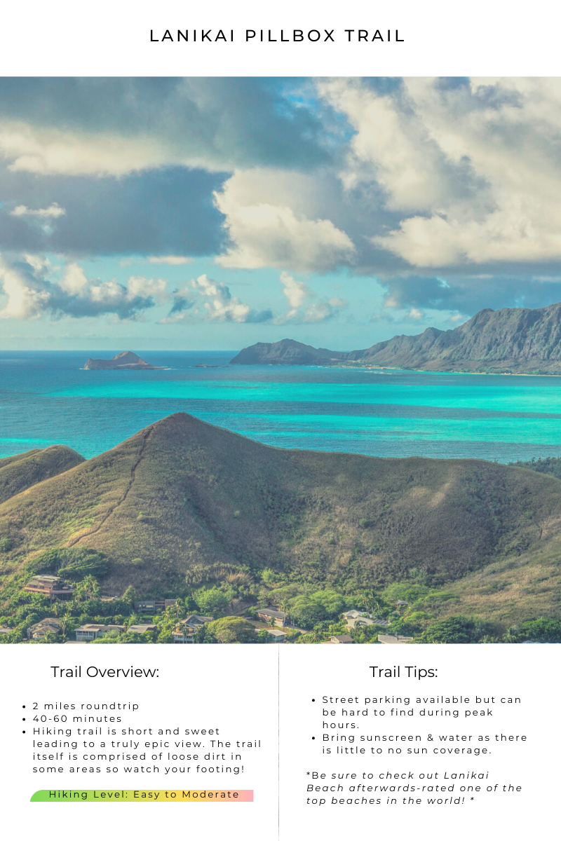 Lanikai Pillbox Trail - Easy to Moderate difficulty