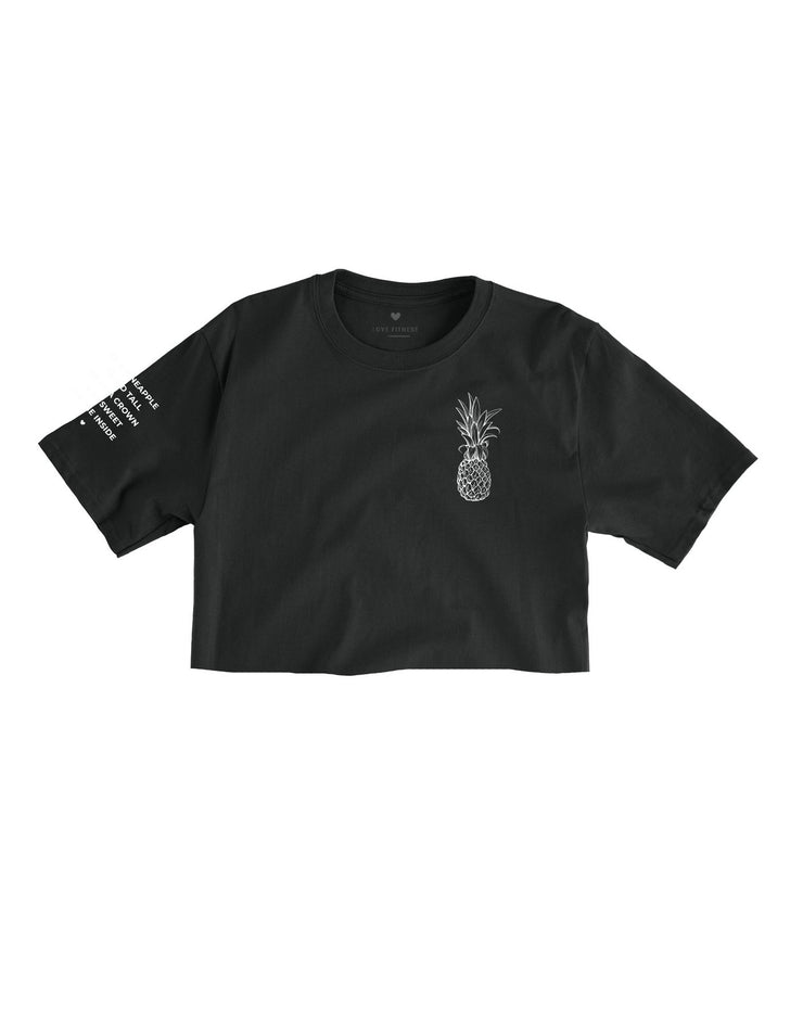 Pineapple Logo - Black Cropped Tee