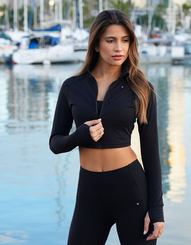 Impact Cropped Jacket - Black