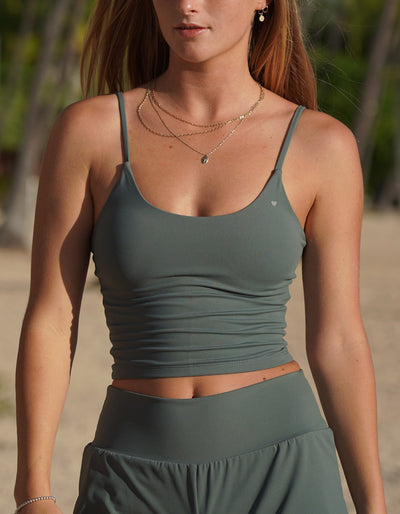 Nai'a Active Crop Top - Storm