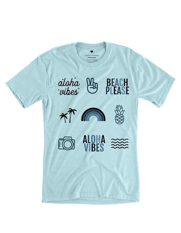 Pacific Collective - Heather Ice Blue Tee