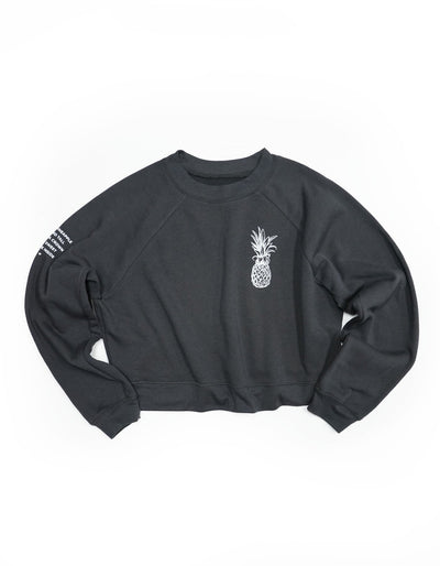Pineapple Logo Raglan Sweatshirt - Dark Grey