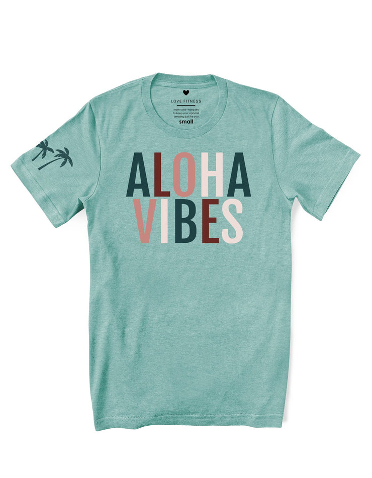 Rustic Aloha Vibes - Prism Dusty Blue Tee