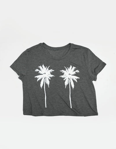 Tropical Palm Trees - Dark Grey