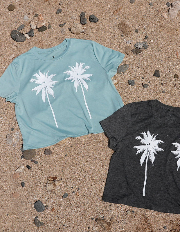 Tropical Palm Trees - Dusty Blue