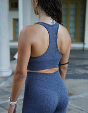 Urban Seamless Sports Bra - Stone Blue