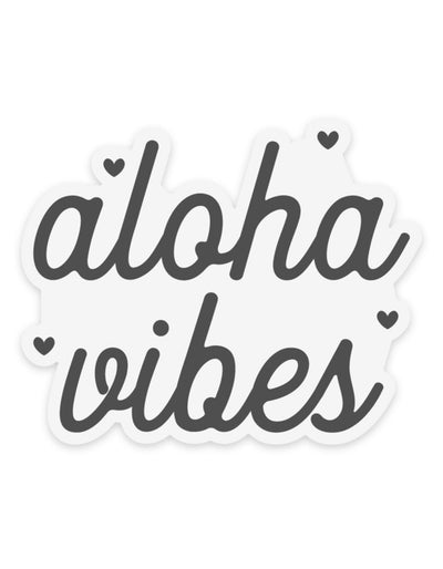 Aloha Vibes - Clear Sticker