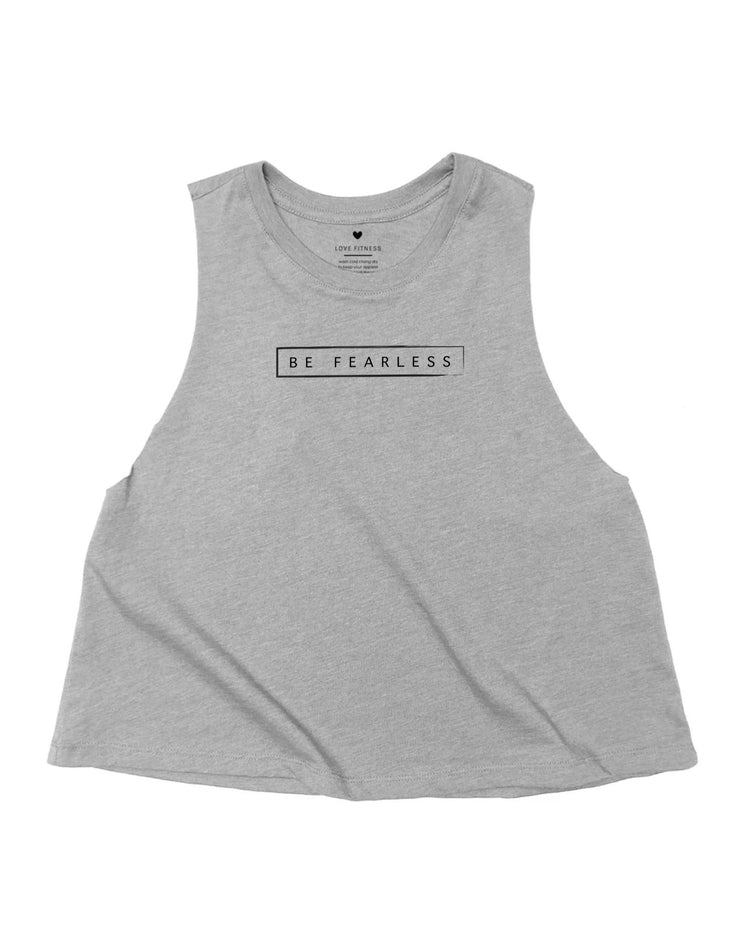 Be Fearless - Heather Grey Crop Tank