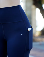 Elite Pocket Biker Shorts - Midnight Navy