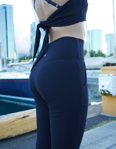 Fierce & Cozy Ribbed Joggers - Midnight Navy