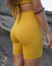Elite Pocket Biker Shorts - Honey