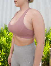 Makani Sports bra - Dusty Rose