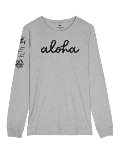 Aloha Malama - Heather Grey Long Sleeve
