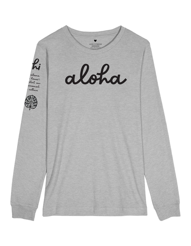 Aloha Malama Long Sleeve - Heather Grey