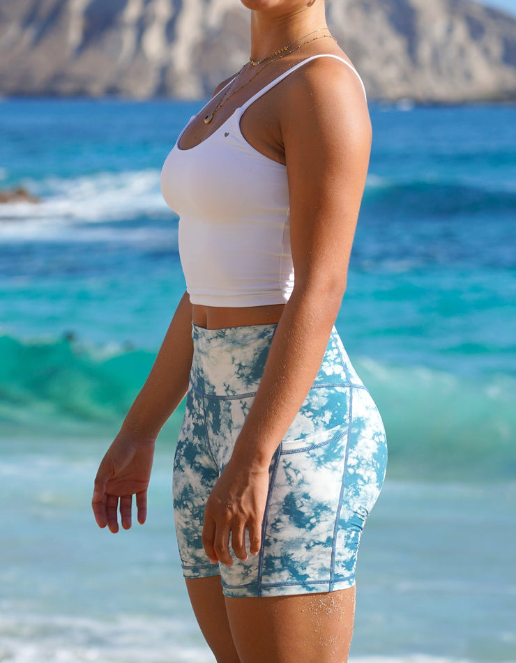 Mystic Ocean - Pocket Biker Shorts