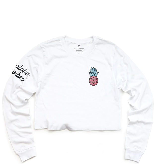 LIMITED EDITION Pink Pineapple Logo - Cropped Long Sleeve