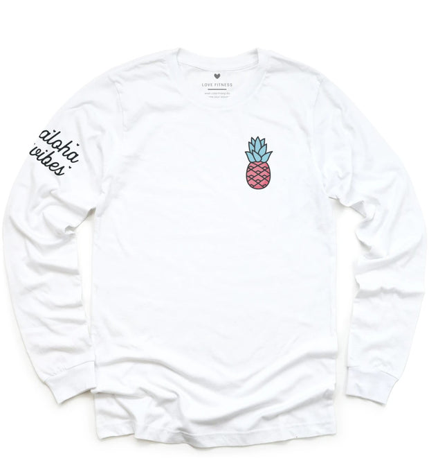 Limited Edition Pink Pineapple Logo - Long Sleeve