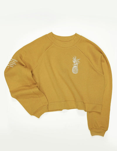 Pineapple Logo Raglan Sweatshirt - Honey